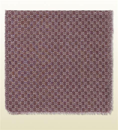 pattern linen lyst gucci logo pattern wool silk linen stole in pink