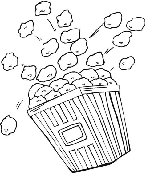 popcorn coloring pages preschool popcorn coloring template coloring pages