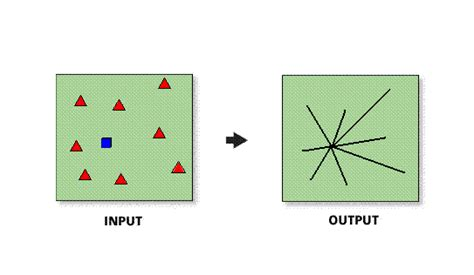 spider diagram arcgis arcgis desktop help 9 3 desire lines business analyst
