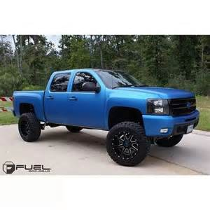 Blue Chevy Truck Black Wheels Flat Blue With Black Wheels The Look Lifted Trucks