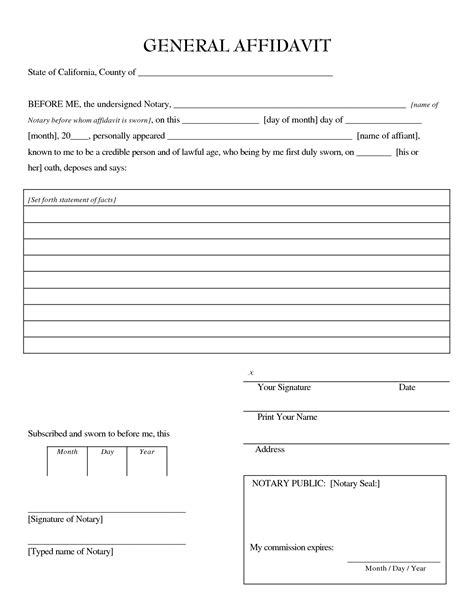 image gallery notary affidavit