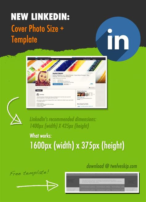 linkedin profile template new linkedin profile header background size template