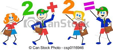 Math Artwork by Stock Illustration Of Math Kids Sums Csp0116946