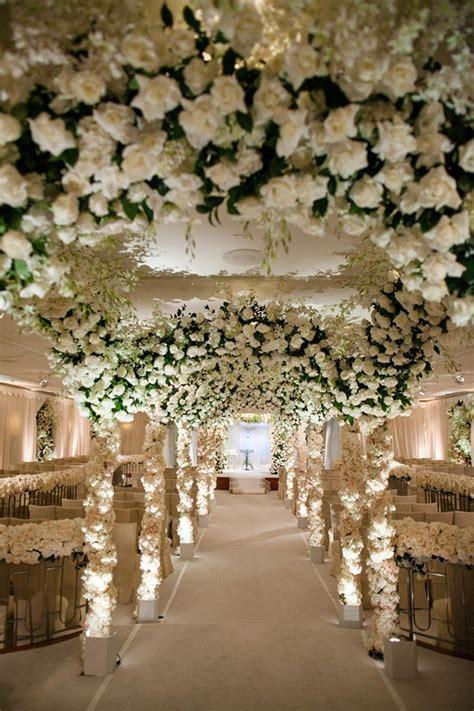 Wedding Arch Rental San Jose Ca by Opulent White Floral Aisle Jose Villa Photography