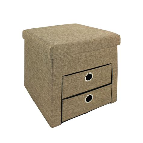 leather ottoman with drawers ottoman with drawers darcy fabric ottoman with drawers