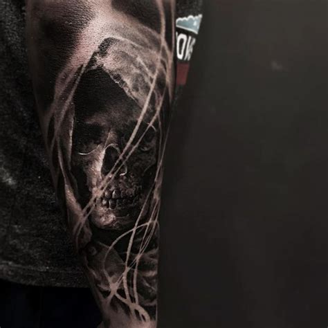 grim reaper forearm tattoo 45 grim reaper design ideas with meaning
