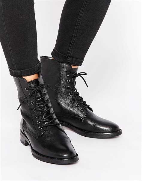 Lace Up Ankle Boots by Asos Aerodrome Leather Lace Up Ankle Boots Shoes