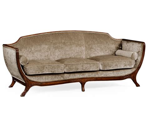 empire style sofa empire style sofa walnut velvet calico