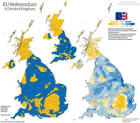 map uk eu referendum brexit inequality and the demographic divide