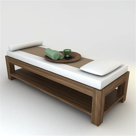 spa bedding 3d massage bed scene model