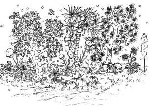 jardin fleurs et v 233 g 233 tation coloriages difficiles pour