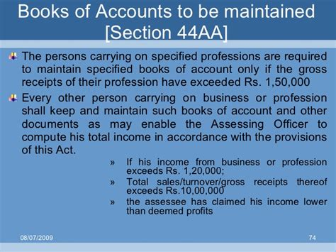 section 11 1 of income tax act section 44aa persons required to maintain books of