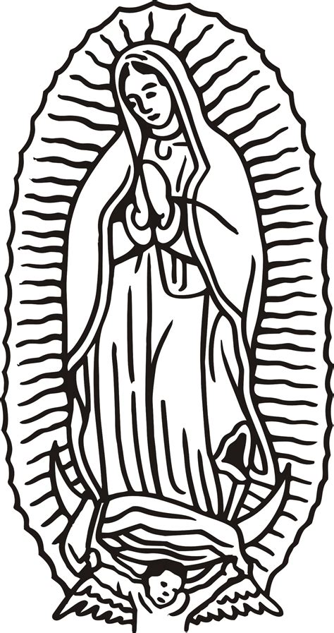 Our Of Guadalupe Coloring Page Virgen De Guadalupe Coloring Pages Coloring Home
