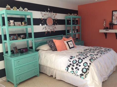 s teal coral bedroom