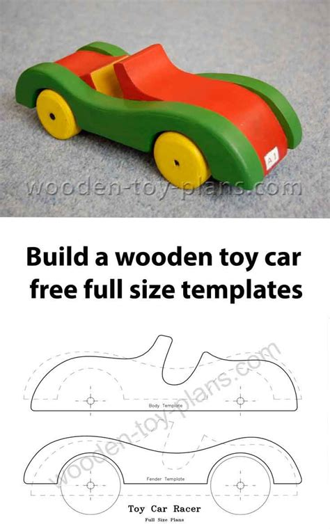 toy car plans  pattern instant   wooden