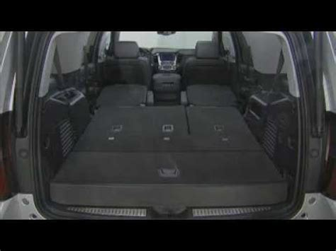 2015 chevrolet suburban & tahoe how to fold 2nd & 3rd row