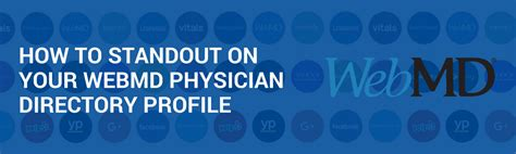 How to Stand Out on Your WebMD Physician Directory Profile Webmd Website Physician Directory