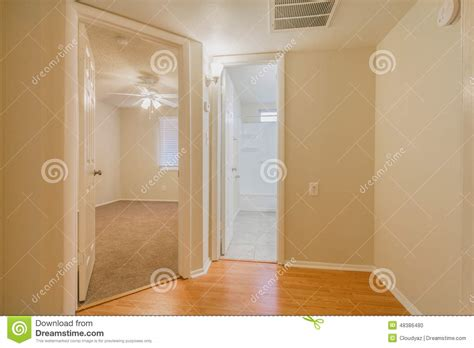 Unlock Interior Door Hallway With Angles Stock Photo Image 48386480