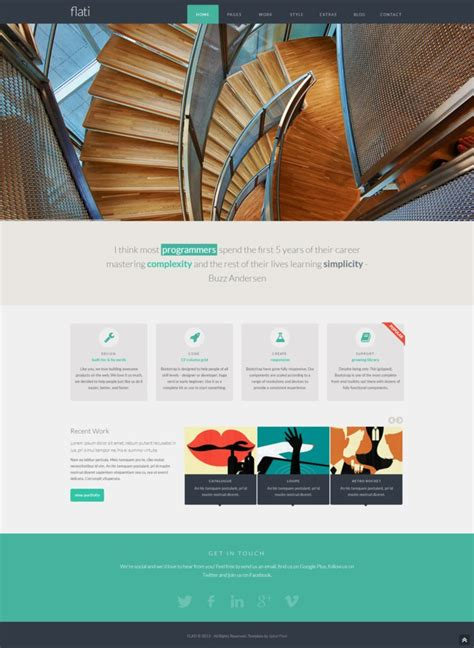 tutorial bootstrap flat design flati responsive flat design bootstrap template by