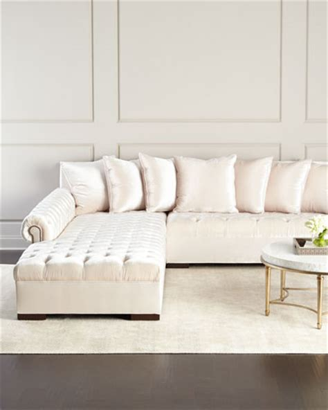 horchow sectional tufted polyester sofa horchow com