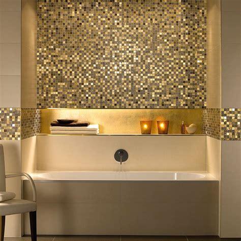 pink badezimmerideen glitter gold schluter