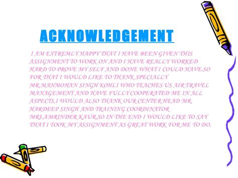 Acknowledgement Letter For Assignment assignment acknowledgement articleeducation x fc2