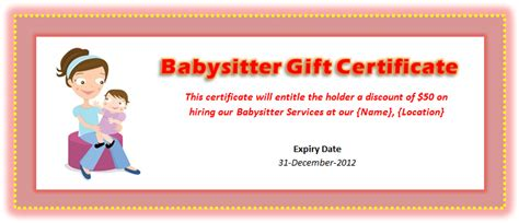 printable babysitting voucher archives microsoft word