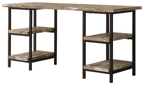 writing desk with shelves coaster skelton 801551 modern rustic writing desk with