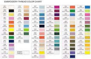 thread color chart janome colours chart polyester machine embroidery thread chart