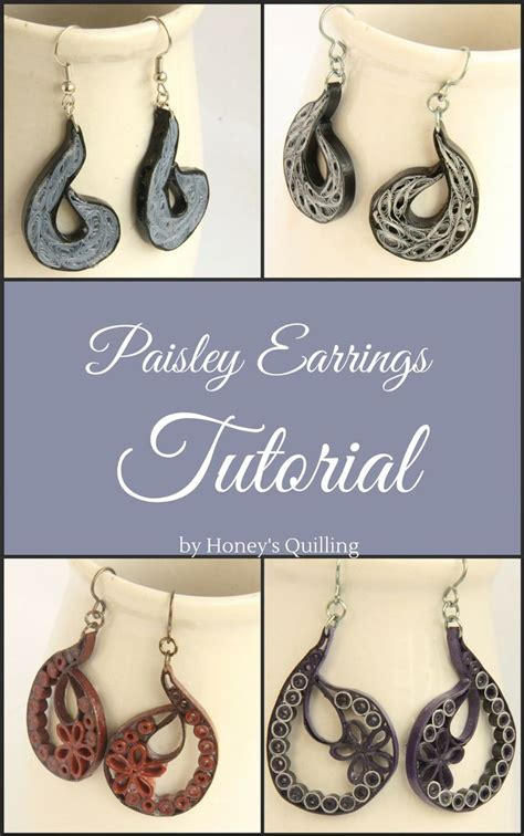 quilling earrings tutorial dailymotion 17 best images about honey s quilling tutorials on