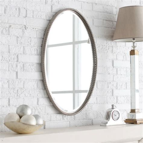 Bathroom Mirror Oval Bathroom Designs Gorgeous Oval Bathroom Mirrors White Brick Wall Design Ideas Brown Wooden
