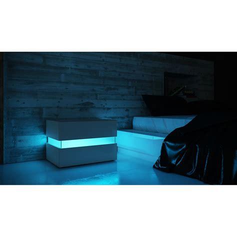 nachttisch mit integrierter beleuchtung nachtkonsole flow ambientlight als indirekte lichtquelle