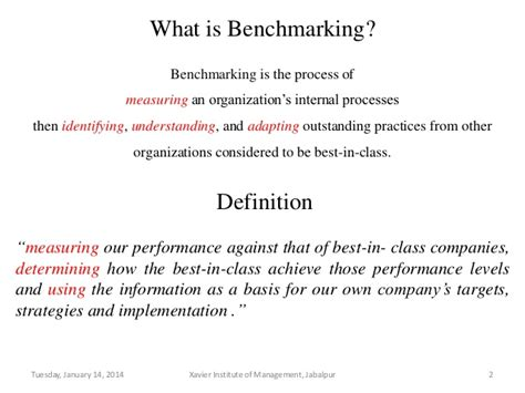 define bench marking benchmarking tqm