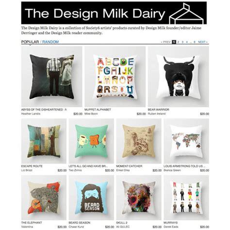 design milk society6 fresh from the dairy art pillows design milk