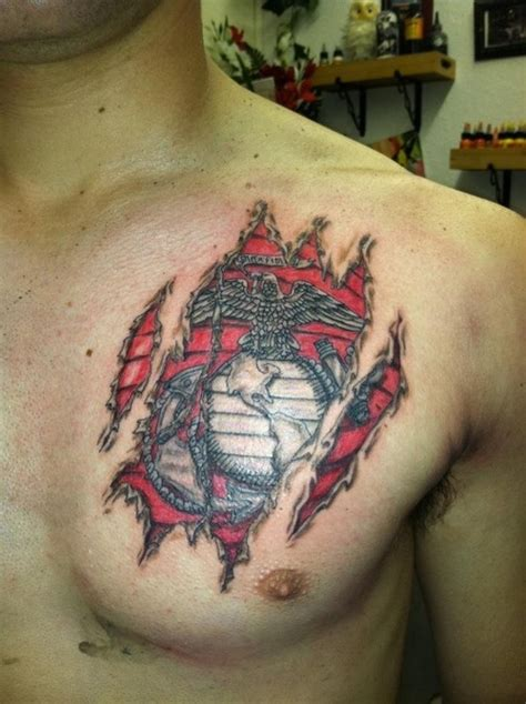 chest tattoo military collection of 25 usmc army tattoo on chest