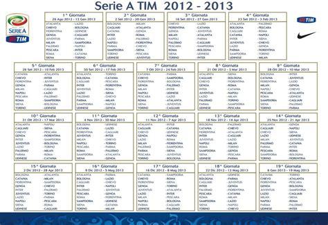Calendario S Erie A Calendario Serie A Tim Stagione 2012 13 Inter Club
