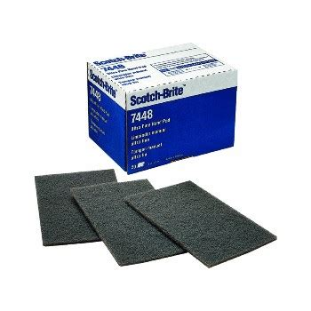 3m 048011040288 7448 ultra fine scour pad sponges