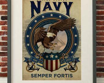 semper fortis tattoo anchor eagle navy etsy