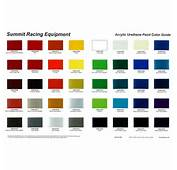 Summit Racing&174 Paint Chip Charts SUM UPCC2  Free Shipping On Orders