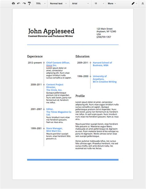 how to make a professional resume in docs