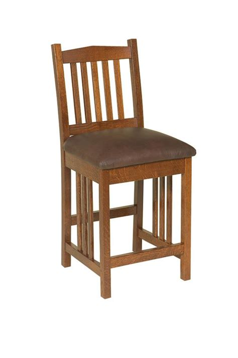 Mission Bar Stool by Amish American Mission Bar Stool