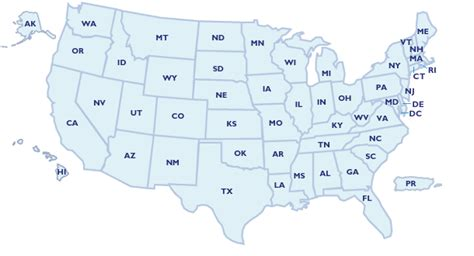 us map states names abbreviation 50 states map with abbreviations