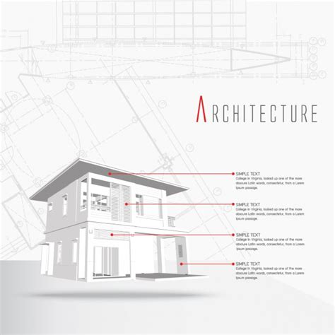 Architecture Infographic Template Vector Free Download Drawing Infographic Template
