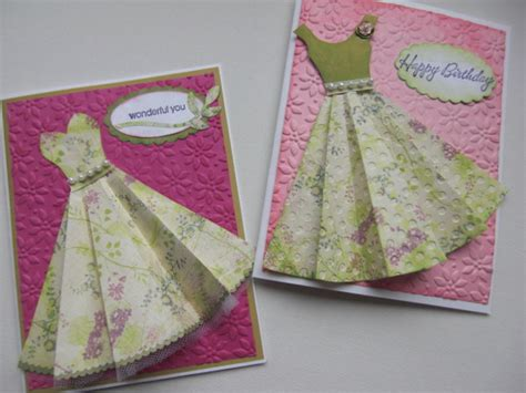 Paper Cards - paper dresses by janecs cards and paper crafts at