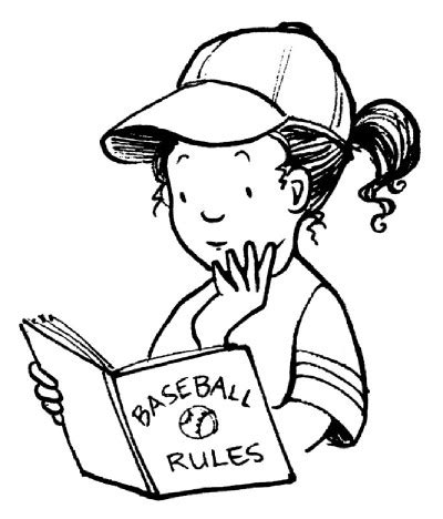 coloring pages girl reading baseball activities for kids howstuffworks