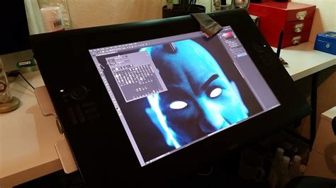 Cintiq Desk by Working With A Wacom Cintiq Pariah Studios