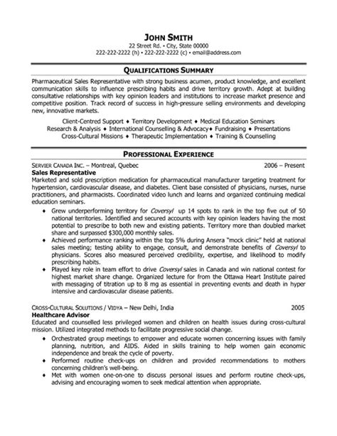 sales rep resume sle sales representative resume sle free outside sales