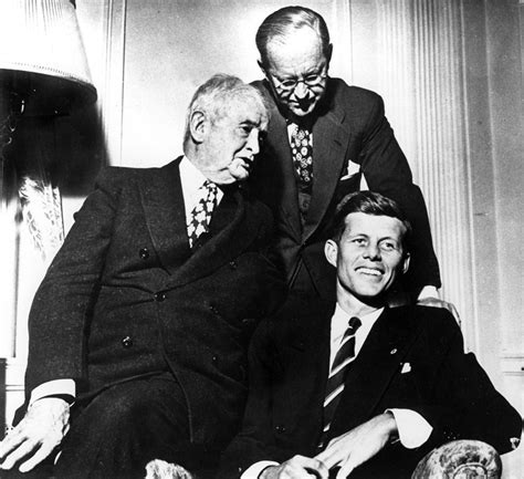 Patrick Bouvier Kennedy John F Kennedy With Father Joseph P Kennedy Sr And