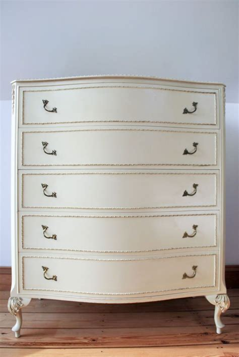 Louis Style Bedroom Furniture Chest Of 5 Drawers Olympus Furniture Louis Xv Style Shabby Chic Vintage
