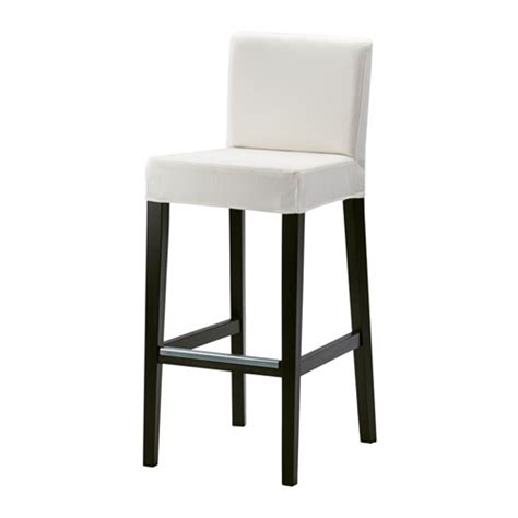 ikea sgabello bar henriksdal bar stool with backrest 30x19 quot ikea